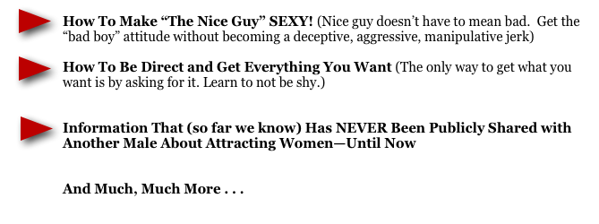 what women want, attract women